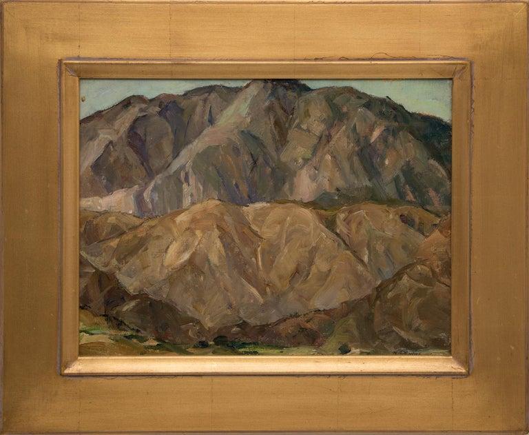 Nellie Augusta Knopf Landscape Painting - Mountain Study (Landscape)