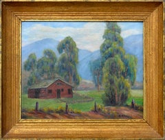Red Barn Near Foothills Landscape