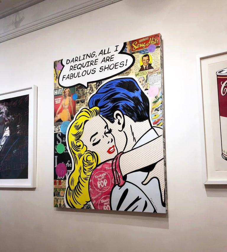 Material Girl - Contemporary Mixed Media Art by Nelson De La Nuez