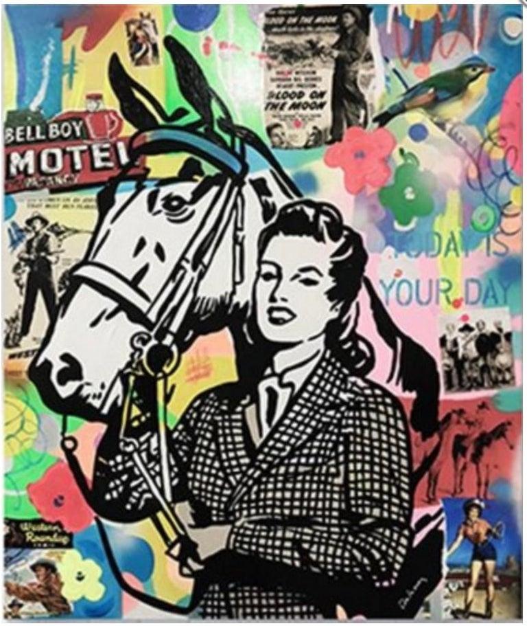 Nelson De La Nuez, Equestrian Dreams - Mixed Media Art by Nelson De La Nuez