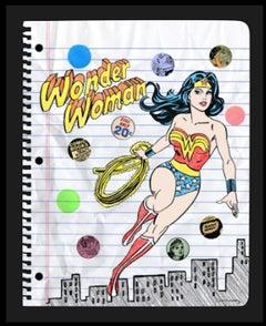 Nelson De La Nuez Wonder Woman Mixed Media Oil Pastel Sketch