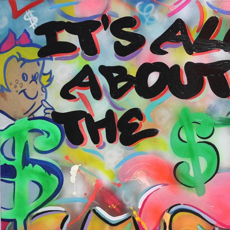 All About the Money - Pop Art Painting by Nelson De La Nuez