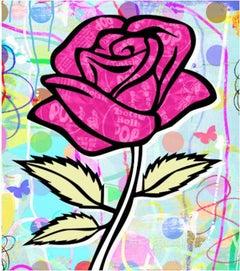 Nelson De La Nuez, Pop Flower Series: Red Tootsie Pop Rose
