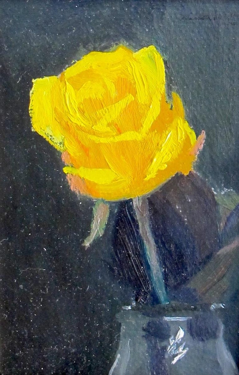 Nelson H. White Still-Life Painting - The Yellow Rose