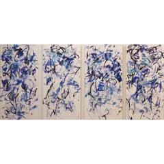 Breeze Dance 4 Panels 72 X 144