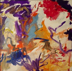 Scent of Summer-Purple Cream and Red 60 X 60