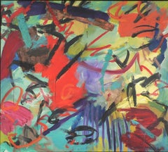 Slippery & Wild- vivid colors with black 51 x 57