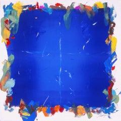 Time Sweep II- Blue monotype 30 X 30