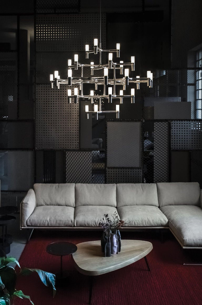 Italian Nemo Crown Major Dimmable Pendant Chandeliers by Jehs + Laub For Sale