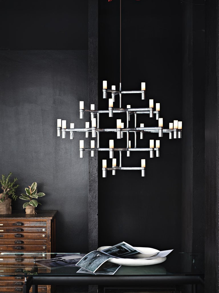 Contemporary Nemo Crown Major Dimmable Pendant Chandeliers by Jehs + Laub For Sale