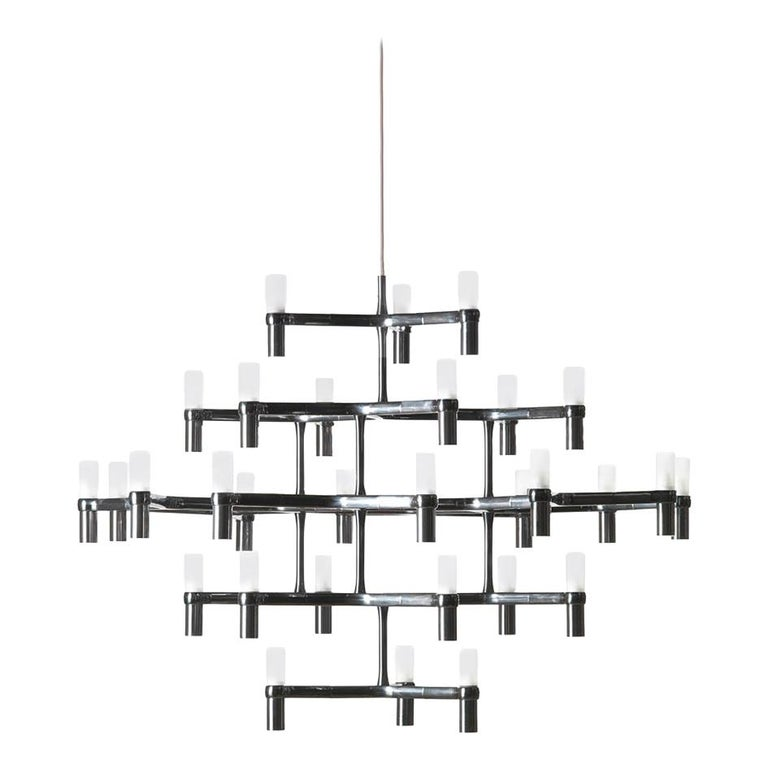 For Sale: Black Nemo Crown Major Dimmable Pendant Chandeliers by Jehs + Laub
