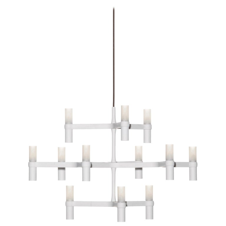 For Sale: White (White ) Nemo Crown Minor Dimmable Pendant Chandeliers by Jehs + Laub 2