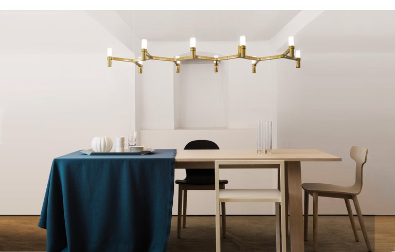 Modern Nemo Crown Plana Linea Dimmable Pendant Chandeliers by Jehs + Laub For Sale