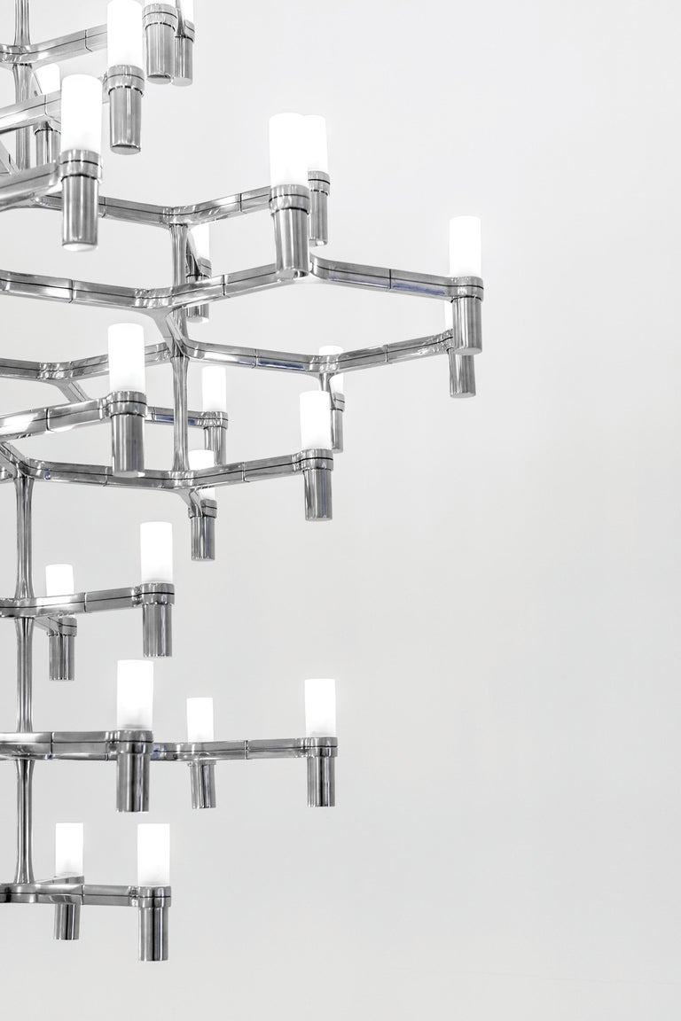 Modern Nemo Crown Summa Dimmable Pendant Chandeliers by Jehs + Laub For Sale