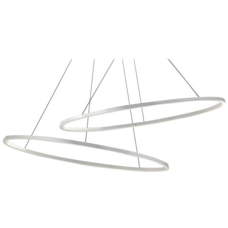 For Sale: White (White ) Nemo Ellisse Pendant Minor Downlight 3000K Dimmable Lamp by Federico Palazzari
