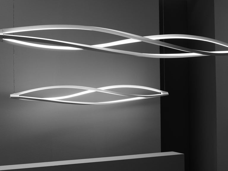 Italian Nemo in the Wind Pendant Horizontal Dimmable Lamp LED 2700K by Arihiro Miyake For Sale