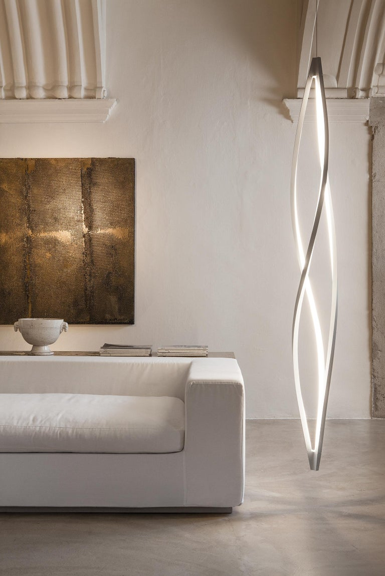 Italian Nemo in the Wind Pendant Vertical Dimmable Lamp LED 2700K by Arihiro Miyake For Sale