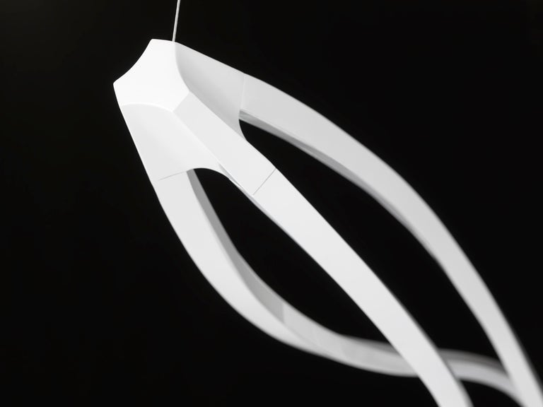 Aluminum Nemo In the Wind Pendant Vertical Dimmable Lamp LED 3000K by Arihiro Miyake For Sale