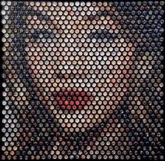 'Havana', Unique contemporary mixed media work with acrylic glass spheres