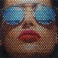 Sunrays - 21st Century, Contemporary, Portrait, Mixed Media, Resin Domes