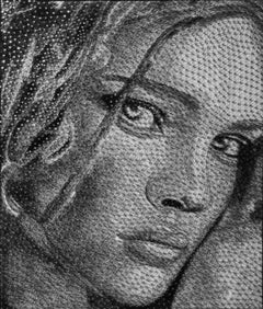 Wait For It - 21st Century, Contemporary, Portrait, Mixed Media, Thread, Nails