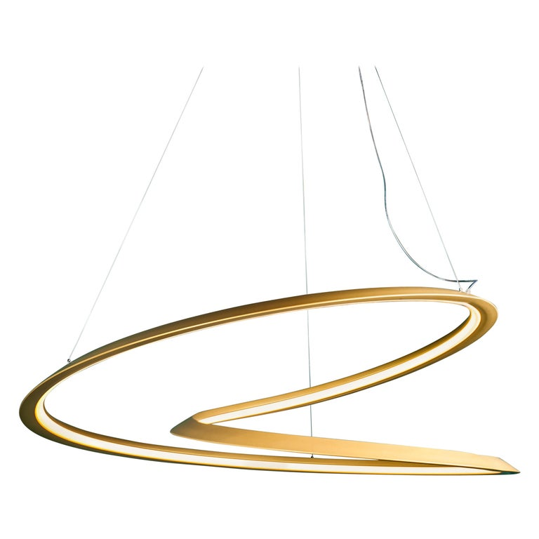 For Sale: Gold Nemo Kepler Downlight LED 2700K Dimmable Pendant Lamp by Arihiro Miyake
