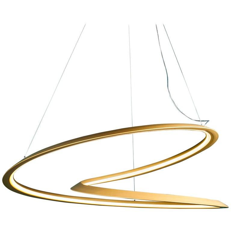 For Sale: Gold Nemo Kepler Downlight LED 3000K Dimmable Pendant Lamp by Arihiro Miyake
