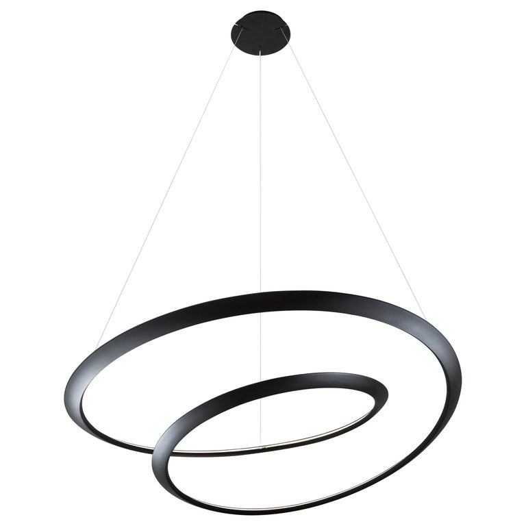 For Sale: Black Nemo Kepler Uplight LED 2700K Dimmable Pendant Lamp by Arihiro Miyake