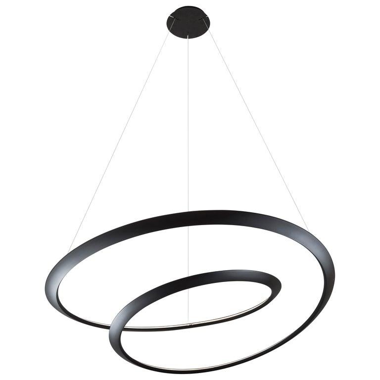 For Sale: Black Nemo Kepler Uplight LED 3000K Dimmable Pendant Lamp by Arihiro Miyake