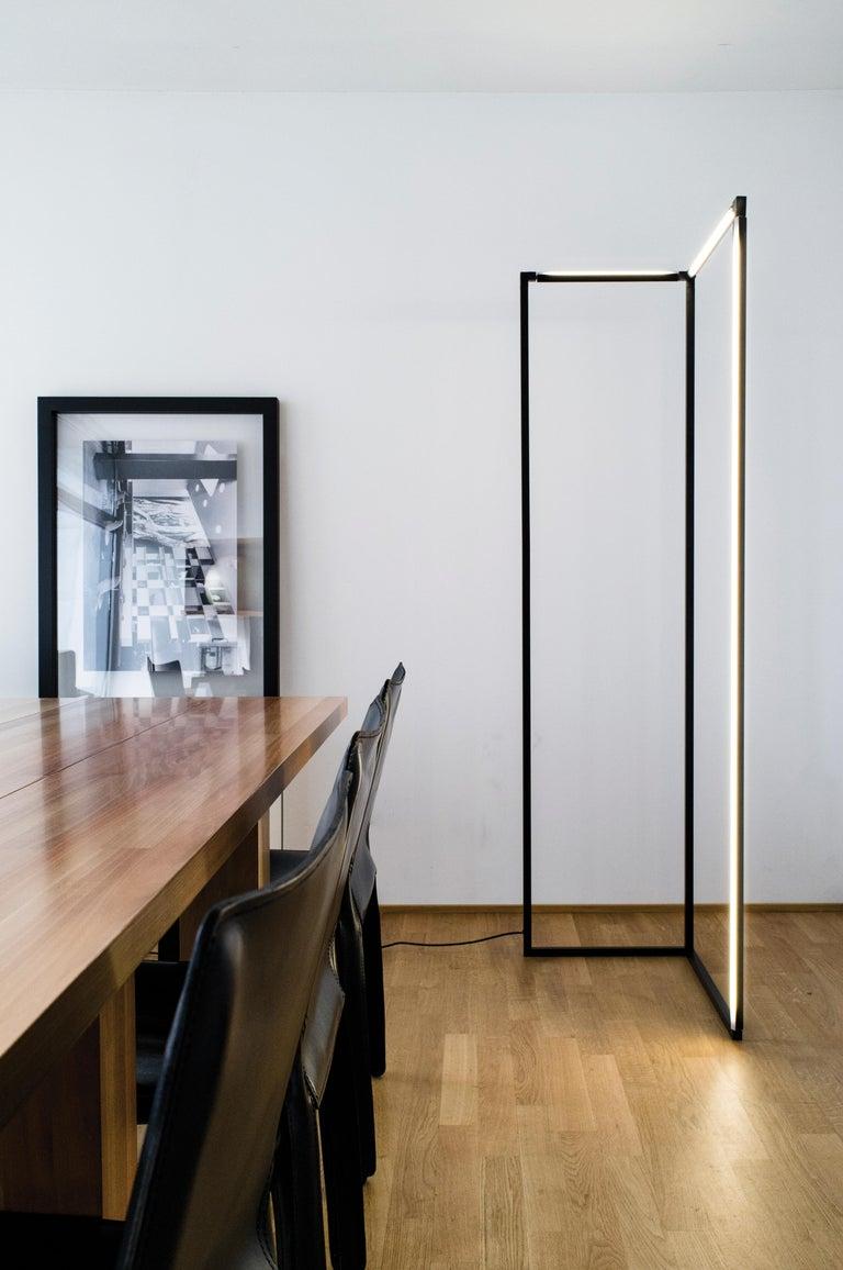 Modern Nemo Spigolo Floor LED 2700K Dimmable Lamp by Studiocharlie For Sale