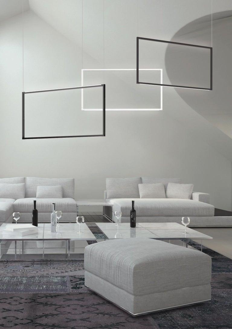 Contemporary Nemo Spigolo Pendant Vertical LED 2700K Dimmable Lamp by Studiocharlie For Sale
