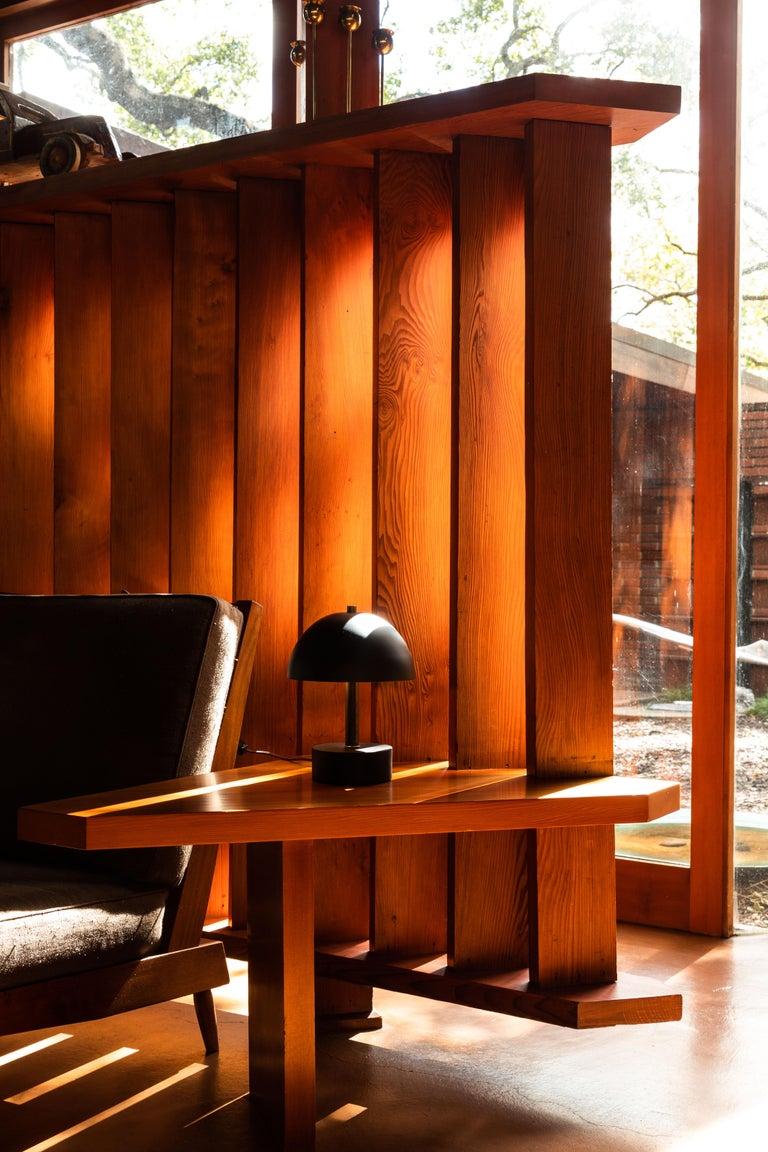American 'Nena' Table Lamp in Black Metal and Wood by Alvaro Benitez For Sale
