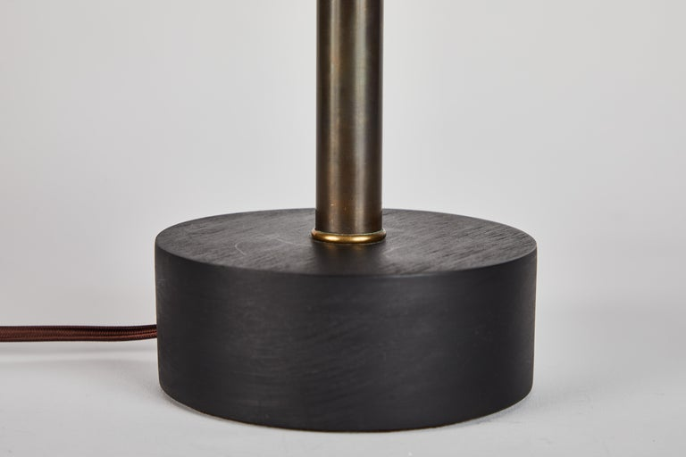 'Nena' Table Lamp in White Metal and Wood by Alvaro Benitez For Sale 4