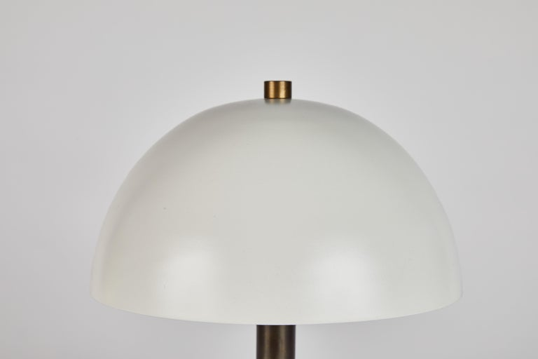 'Nena' Table Lamp in White Metal and Wood by Alvaro Benitez For Sale 5