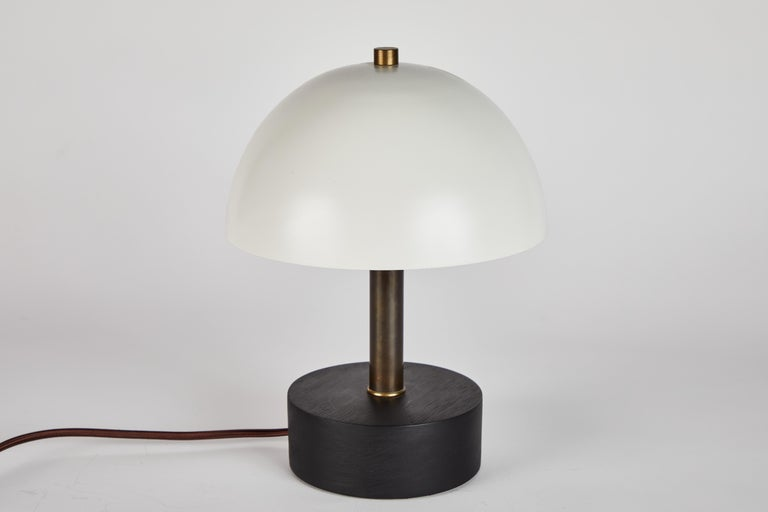 'Nena' Table Lamp in White Metal and Wood by Alvaro Benitez For Sale 8