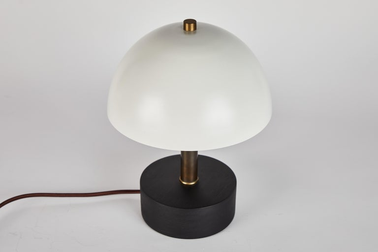 'Nena' Table Lamp in White Metal and Wood by Alvaro Benitez For Sale 9