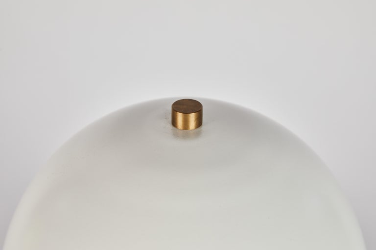 'Nena' Table Lamp in White Metal and Wood by Alvaro Benitez For Sale 11