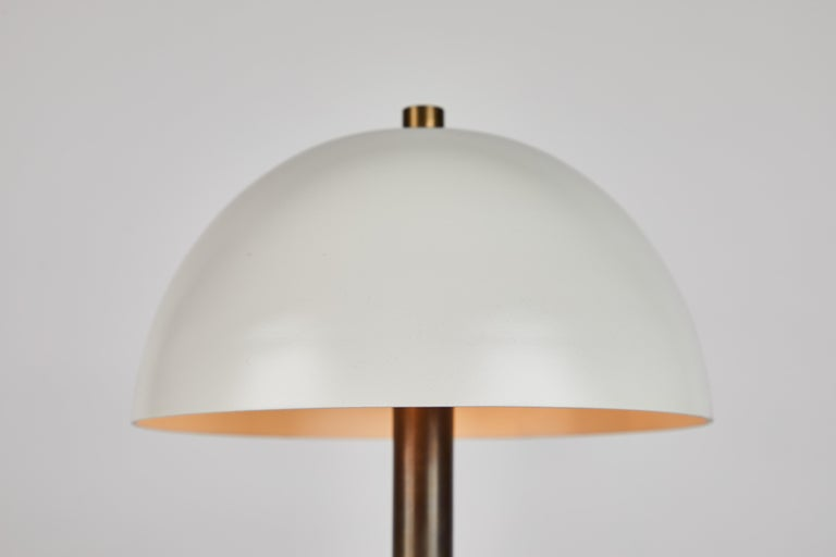 'Nena' Table Lamp in White Metal and Wood by Alvaro Benitez For Sale 1