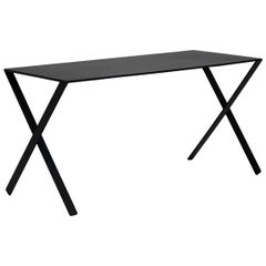 Nendo Bambi Table in Anthracite Lacquered Aluminum Structure for Cappellini