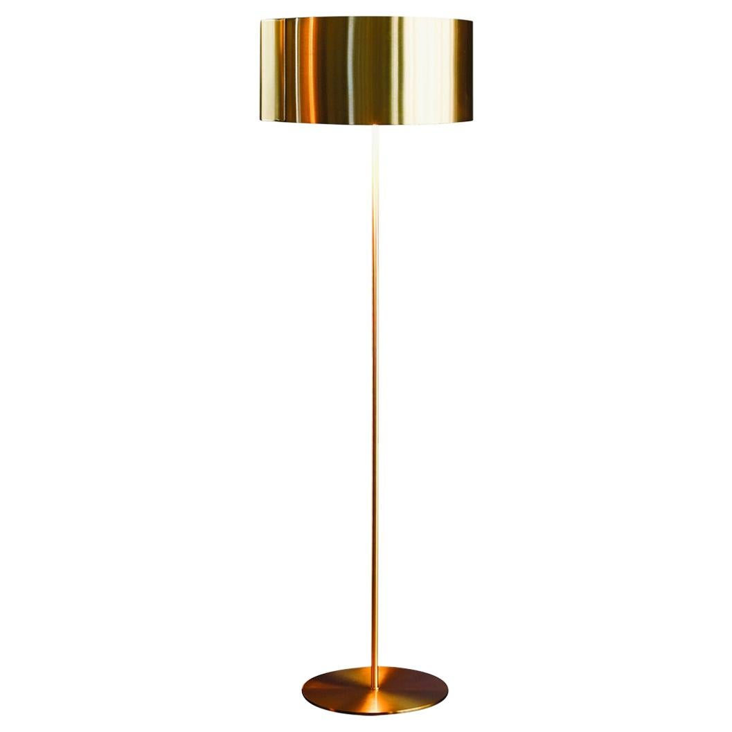 Nendo Floor Lamp 'Switch' Satin Gold Edition by Oluce