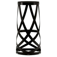 Nendo High Ribbon Stool in Anthracite Metal & Matte Lacquer Finish by Cappellini