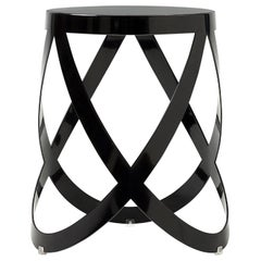 Nendo Low Ribbon Stools in Sheet Metal with Matte Lacquer Finish for Cappellini
