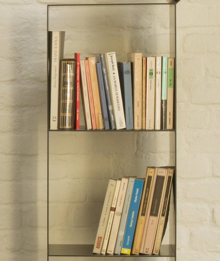 Contemporary Nendo Medium Drop Bookcase Matte Lacquered Laser-Cut Sheet Metal for Cappellini For Sale