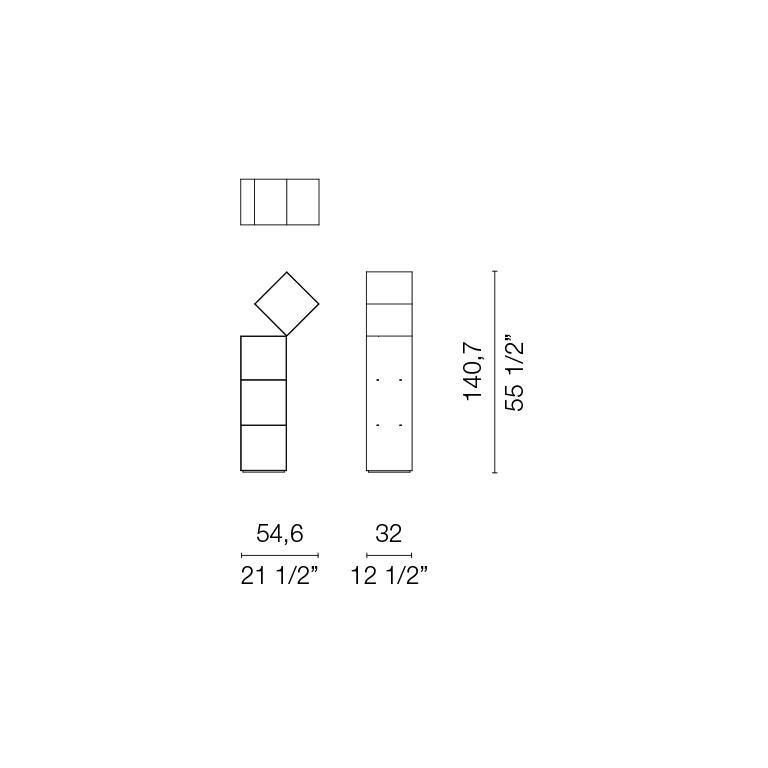 Nendo Medium Drop Bookcase Matte Lacquered Laser-Cut Sheet Metal for Cappellini For Sale 1
