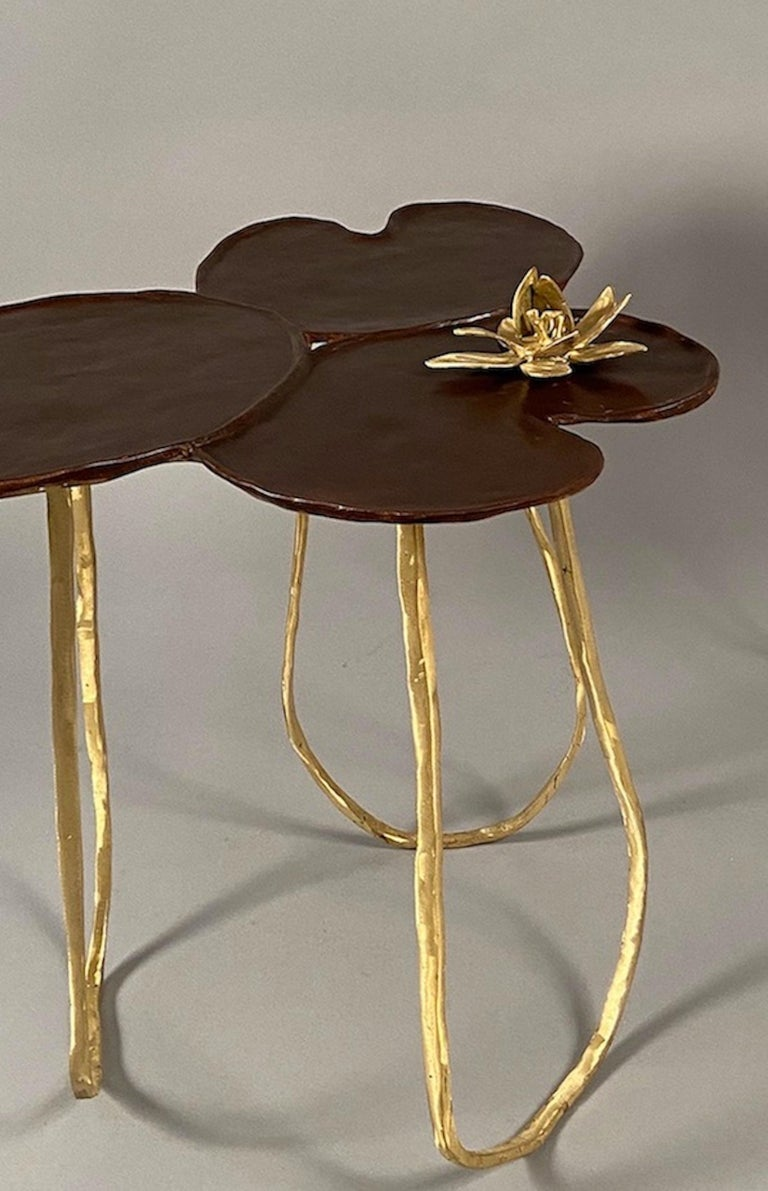 """Contemporary """"Nénuphar"""" Side Table For Sale"""