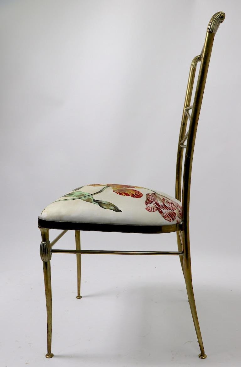 Neoclassic Italian Brass Chair by Chiavari For Sale 5