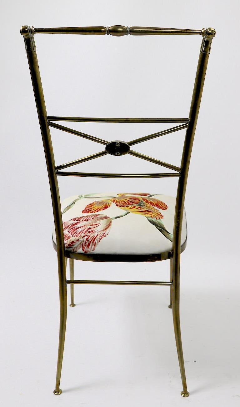 Neoclassic Italian Brass Chair by Chiavari For Sale 6