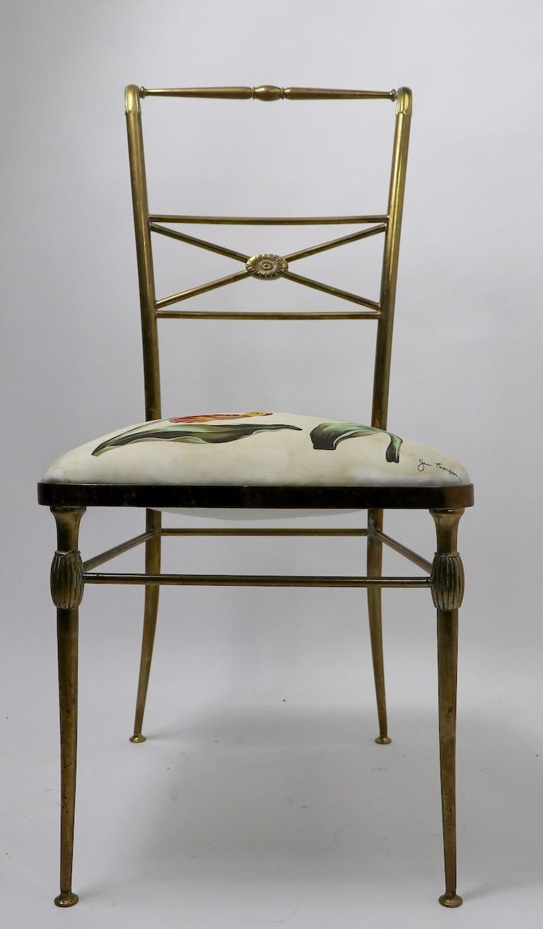 Neoclassic Italian Brass Chair by Chiavari For Sale 7