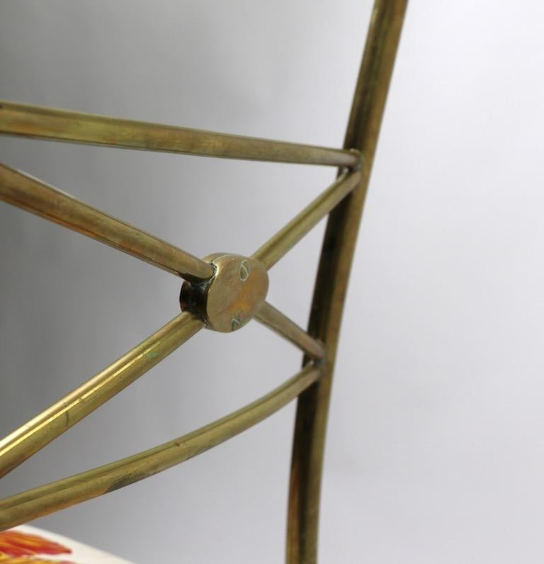 Neoclassic Italian Brass Chair by Chiavari For Sale 9