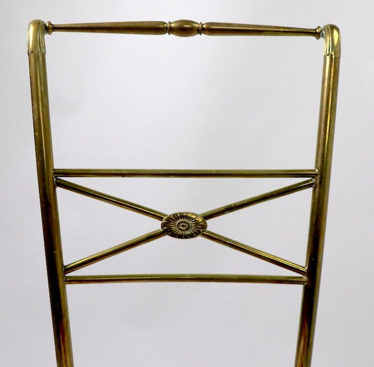 20th Century Neoclassic Italian Brass Chair by Chiavari For Sale